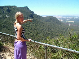 Look out on the way up Mt William. View towards Redman Bluff and beyond Grampians Paradise Camping and Caravan Parkland