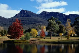 Grampians Paradise Camping and Caravan Parkland is located below the hightest peaks of the Grampians National Park