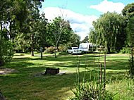 Camping and Caravan sites sheltered from the wind