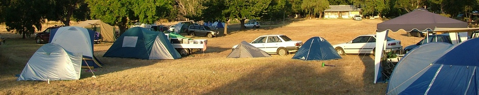 Camping Sites with Views of the Grampians Mountains at Grampians Paradise Campnig and Caravan Parkland