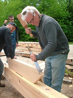 Steve Chappel is the founder of Fox Maple School of Traditional Building