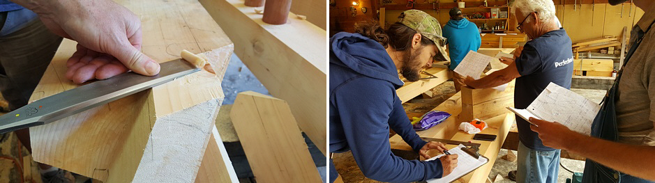Pairing the Tenon with a Barr Framing Chisel and careful checking of the design of the timber frame